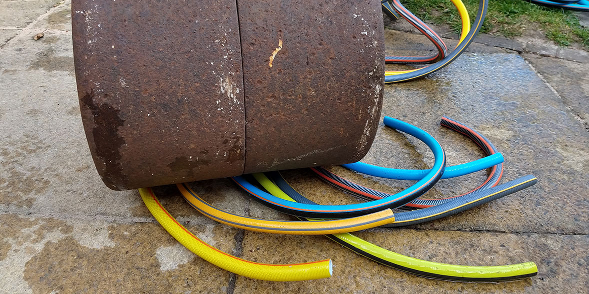 Hoses being crushed
