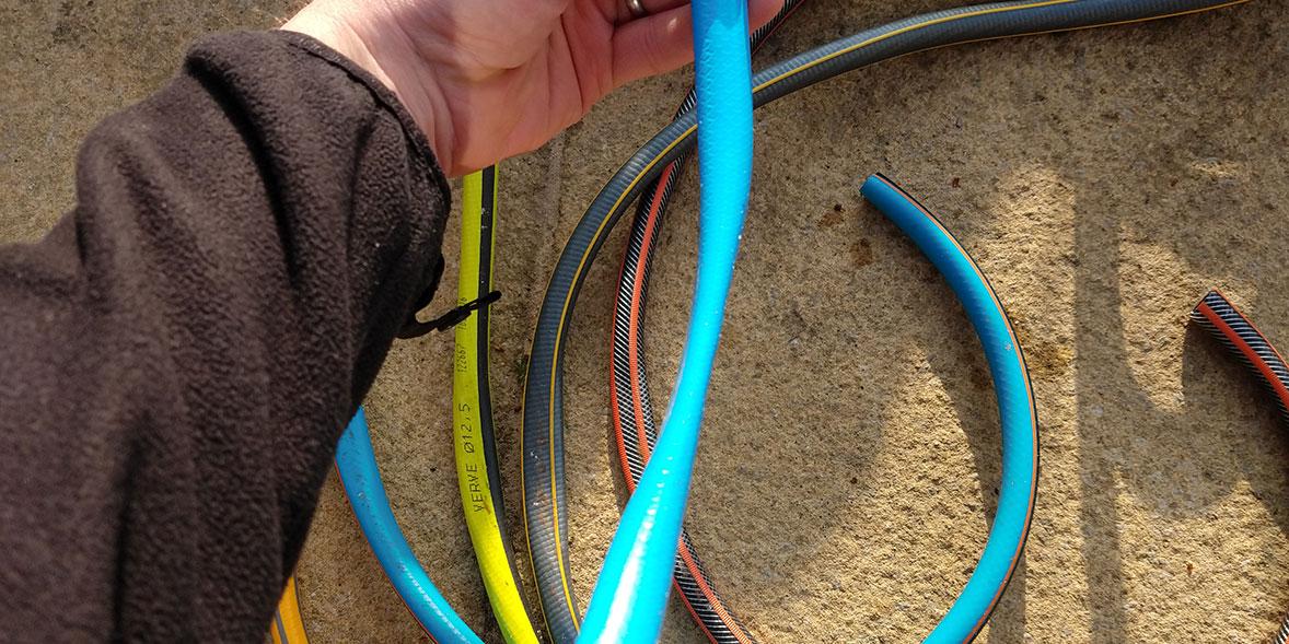 A crushed hose