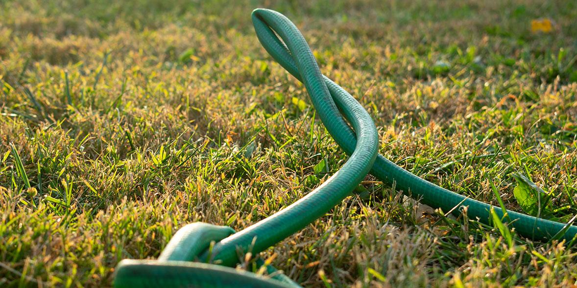 A kinked hose