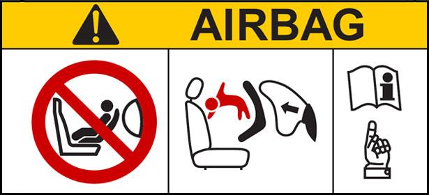 airbag warning label
