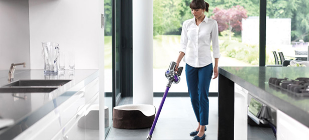 Dyson cordless vac in kitchen_secondary