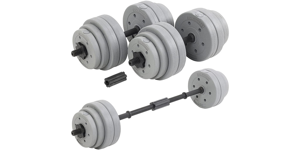 DTX 30kg adjustable dumbbell set.