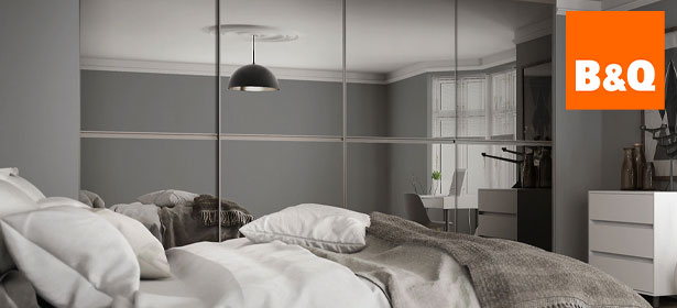 Bandq sliding door fitted wardrobe with logo 488627