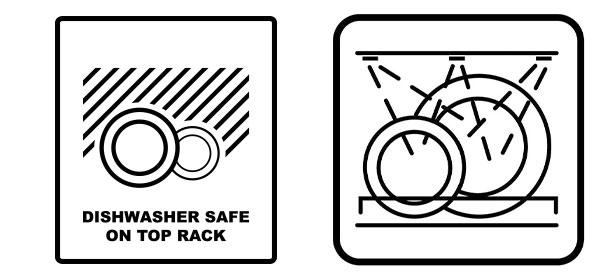 Dishwasher safe symbols