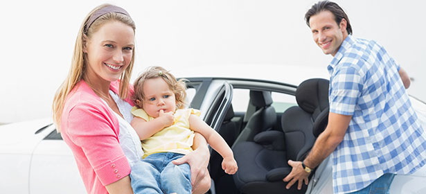 Family-with-car-seat
