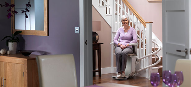 Stairlift for curved stairlift 477376