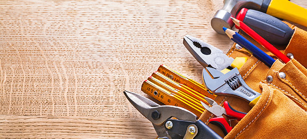 Tool belt on wood floor 436709