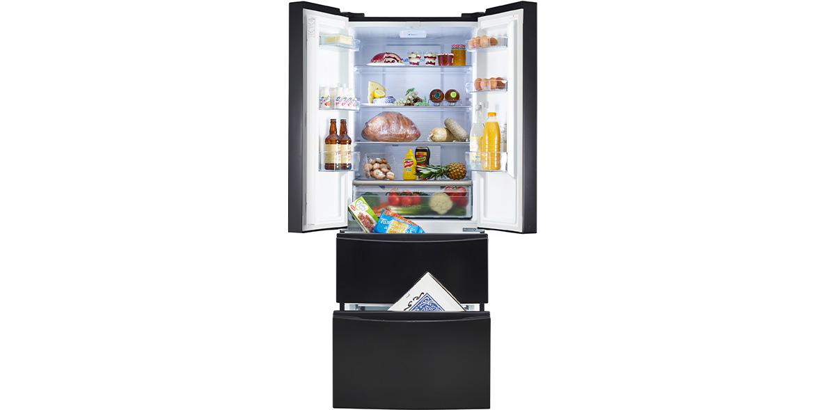 Hoover HMN7182BK freestanding fridge freezer