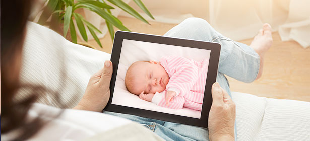 Using tablet as baby monitor