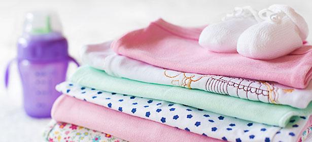 Folded washing
