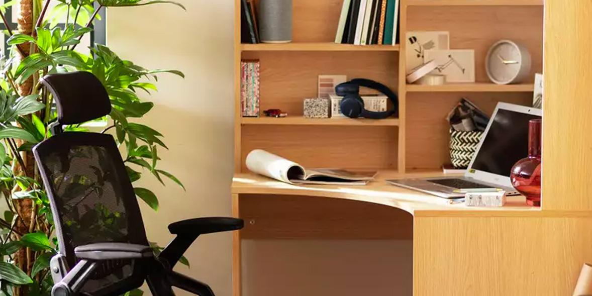 Above: Habitat Pepper Corner Desk, Argos, £160