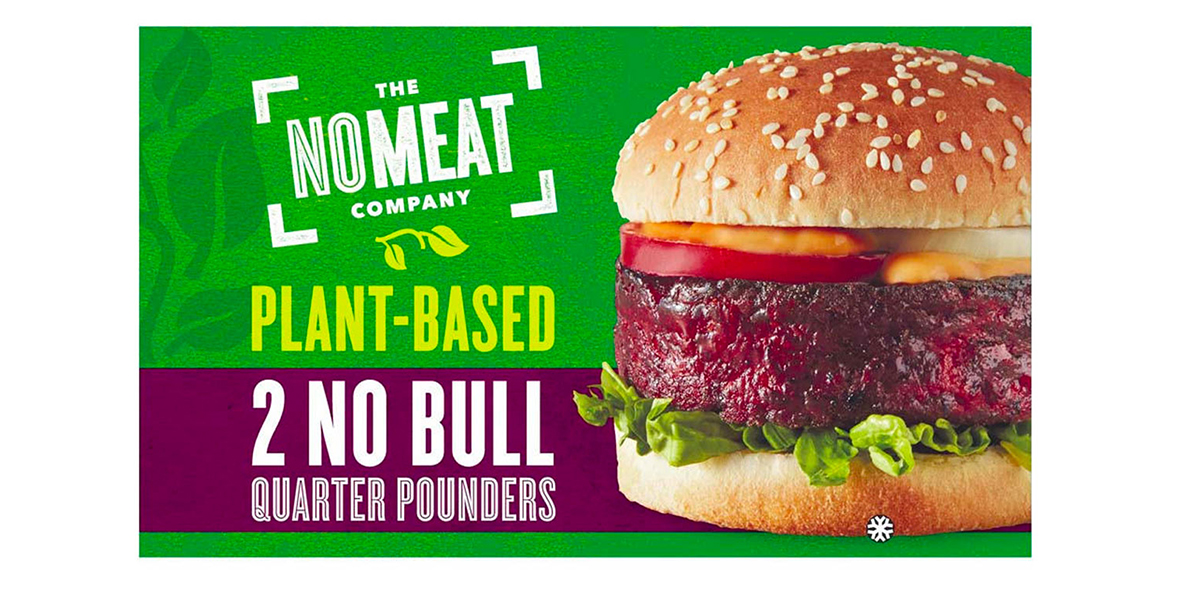Iceland The No Meat Company Plant-based No Bull Quarter Pounders