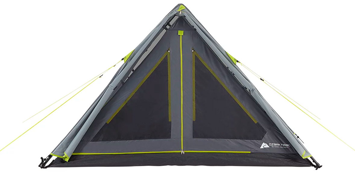 Ozark Trail Grey 3 Person Instant A Frame Tent