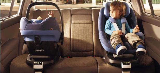 two maxi cosi brand child car seats