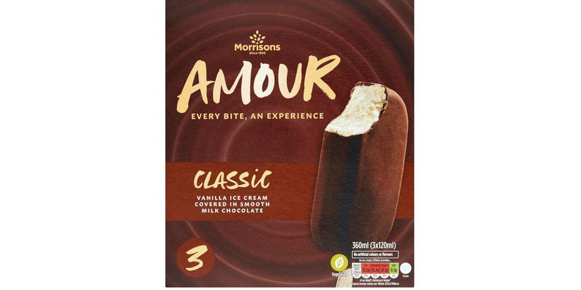 Morrisons Milk Chocolate Amour Lollies
