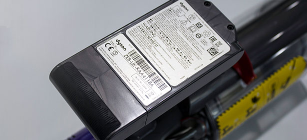 Cordless vacuum cleaner battery