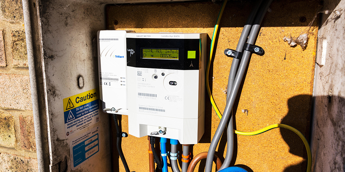 Smart meter in a meter box