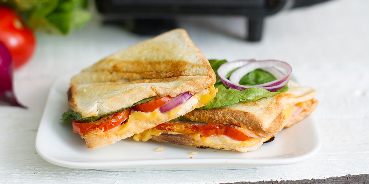 Cheese toasties on a plate