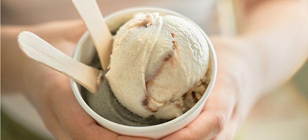 scoop of ice cream in a tub