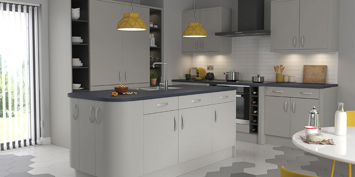 DIY Kitchens Carrera dove grey kitchen