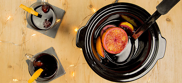 Slow-cooker mulled wine and cider