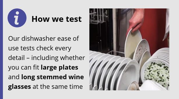 'how we test' dishwasher box