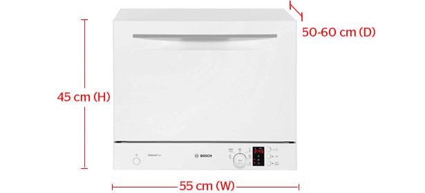 Compact dishwasher dimensions