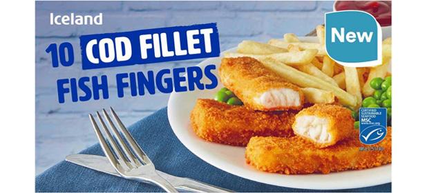 Iceland 10 Cod Fillet Fish Fingers