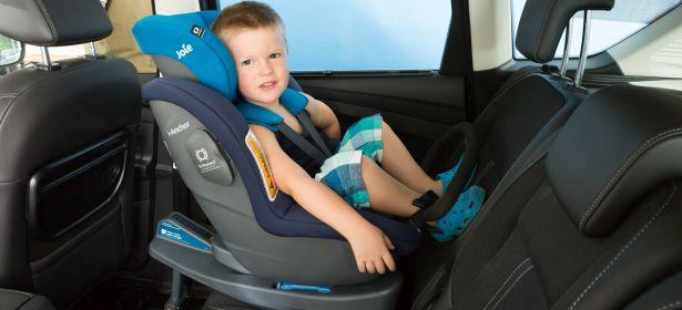 Boy in i-Size child car seat
