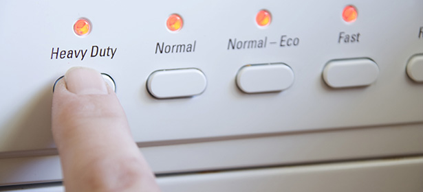 Intensive dishwasher program button