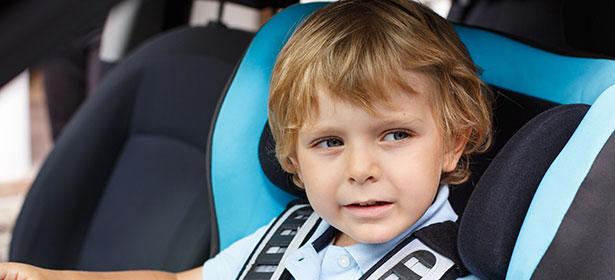 Toddler in car seat