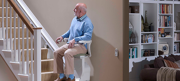 Man on stairlift 439002