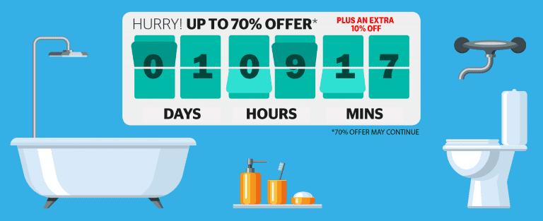 Bathroom countdown clock graphic