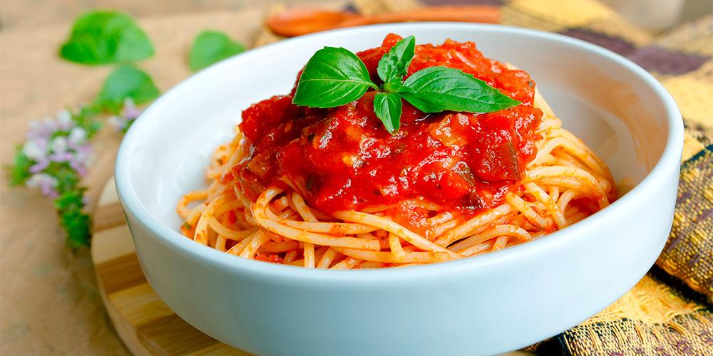 Pasta in a fresh tomato sauce