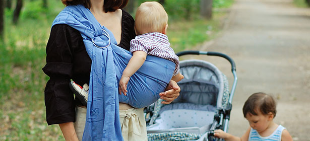 Pushchair and baby sling