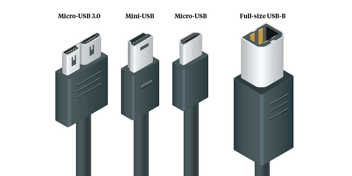 USB-B varieties