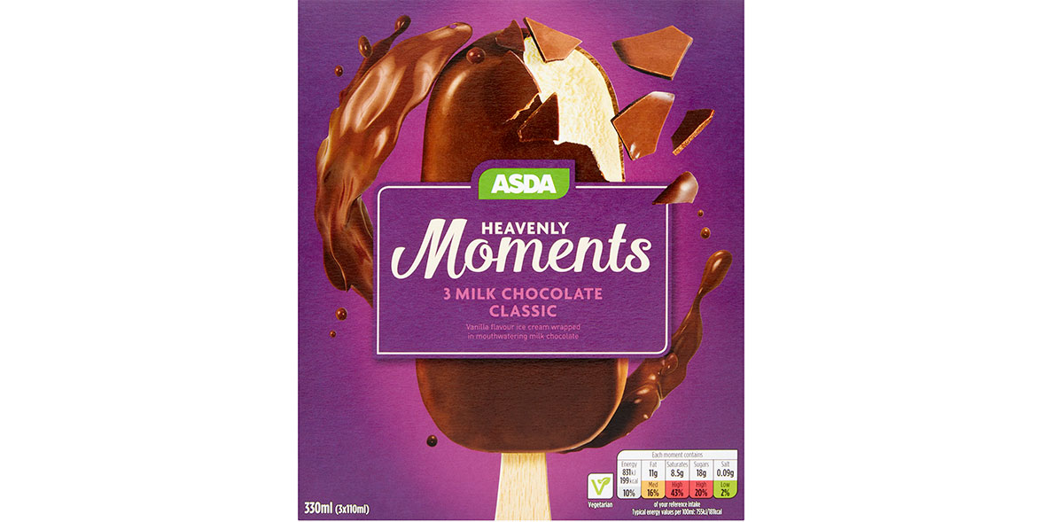 Asda Heavenly Moments 3 Milk Chocolate Classic
