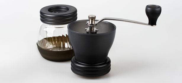 A manual coffee grinder