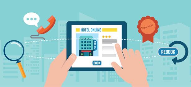 Book hotel online illustration 474503