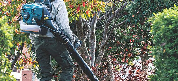 Using a leaf blower