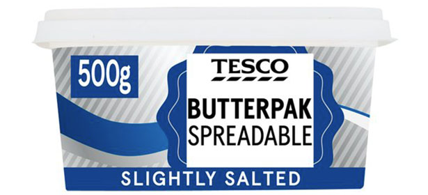 Tesco spreadable butter