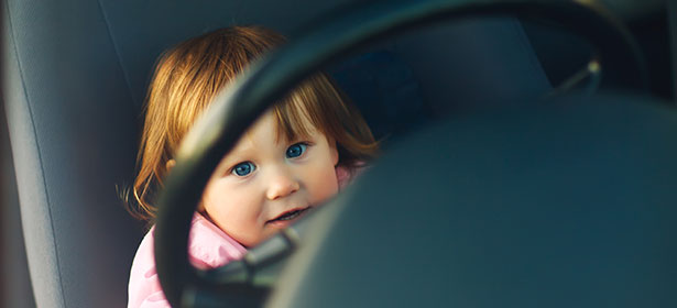 girl in driving seat