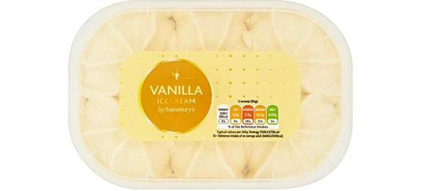 Sainsbury's Vanilla Ice Cream