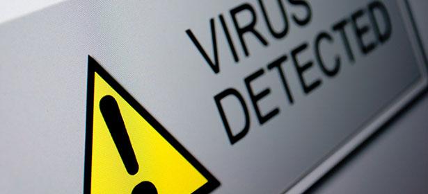 Virus detected screen