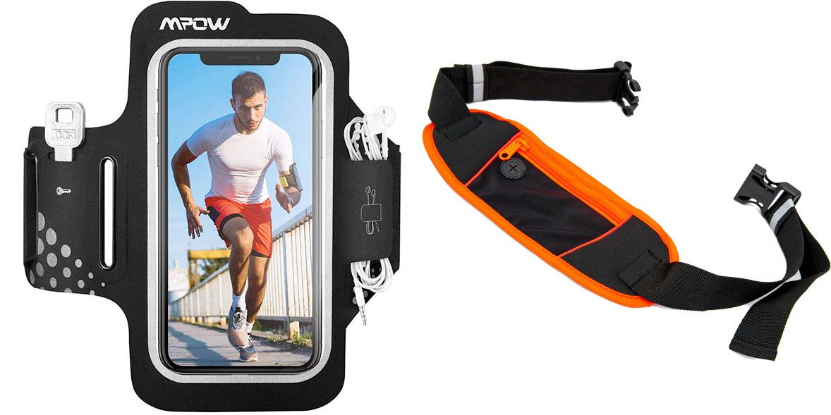 Running armband and running belt