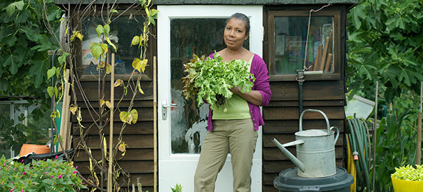 Main woman-outside-her-shed