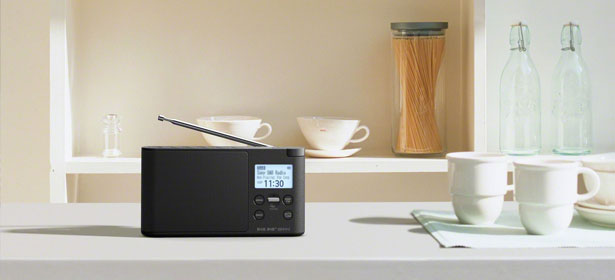 Dab radio black countertop 474205