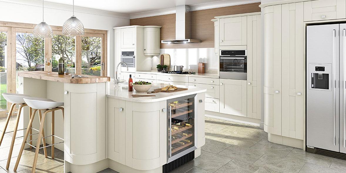 DIY Kitchens Linwood alabaster kitchen