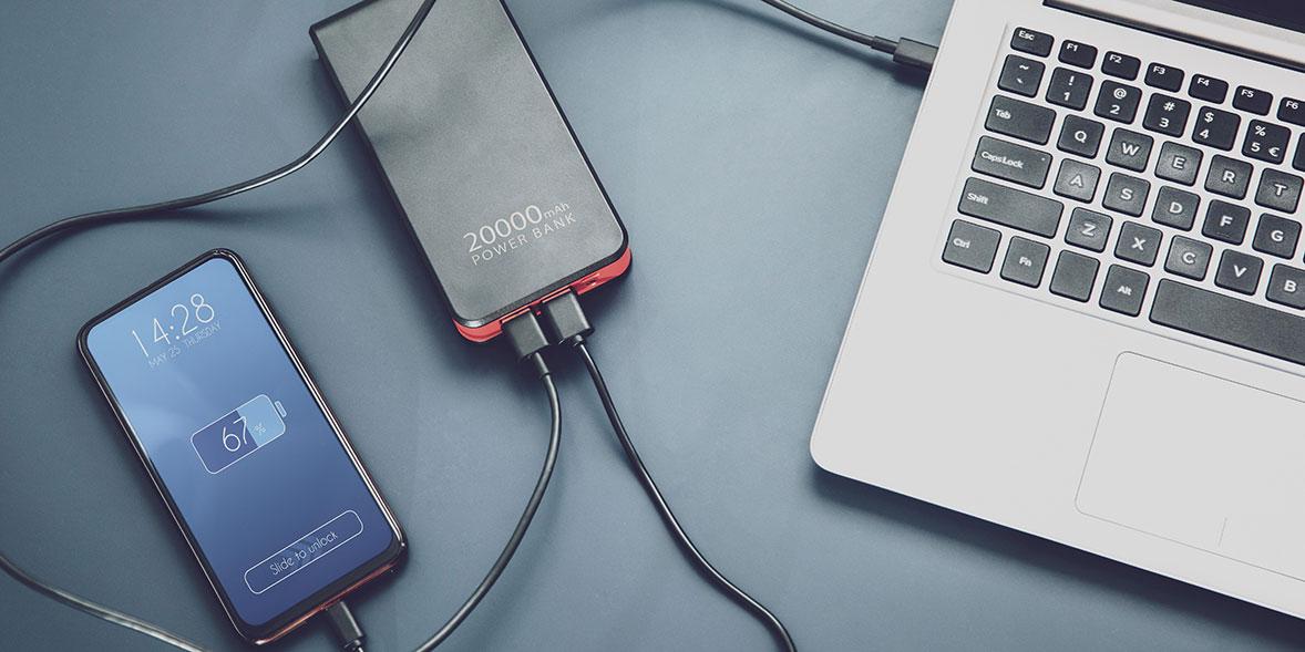 Charging a USB power bank