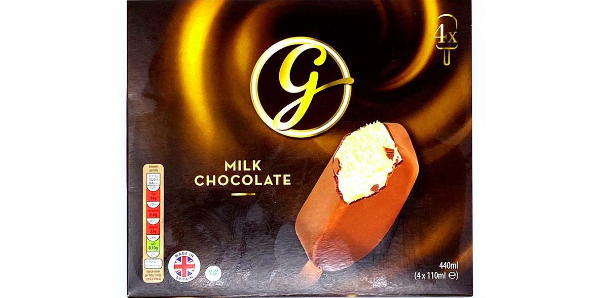 Aldi Gianni's Milk Chocolate Ice Creams